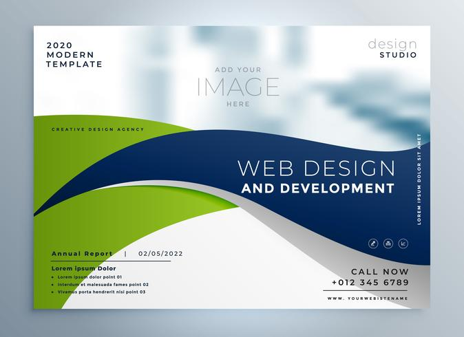 modern wavy business brochure presentation template