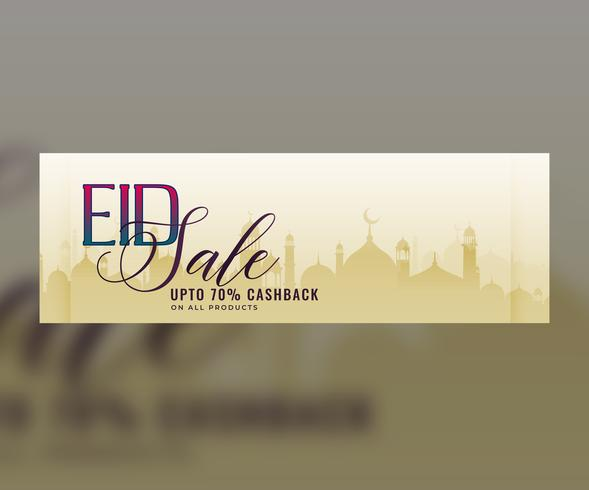 eid sale banner with offer details