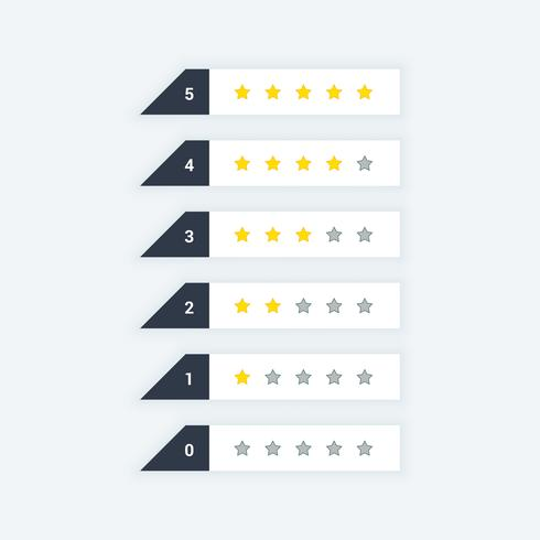 clean star rating web icons
