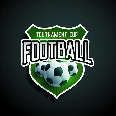 voetbaltoernooi label ontwerp vector