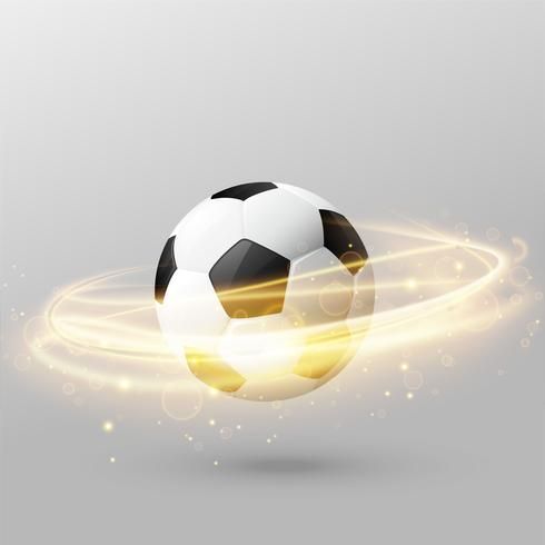 isolated football with shiny light ring effect
