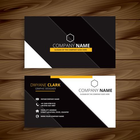 yellow dark modern business card design