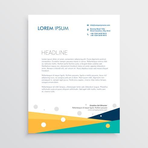 modern geometric letterhead template design