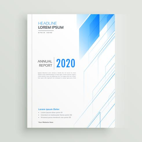 clean blue brochure or book cover template