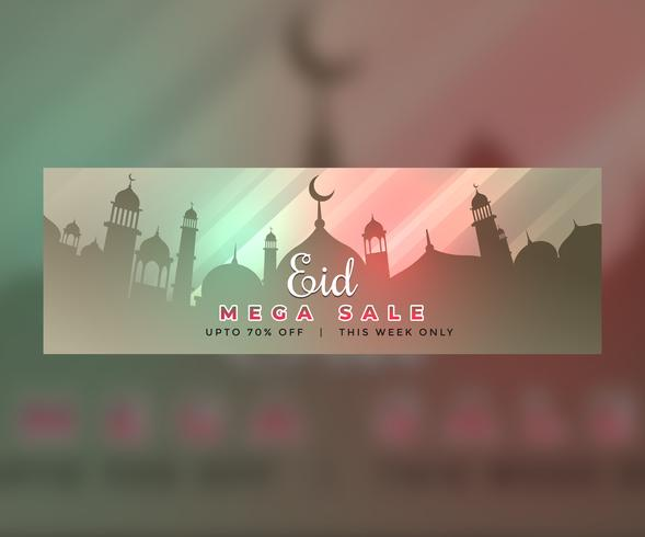 eid mubarak web banner design with offer and sale detals