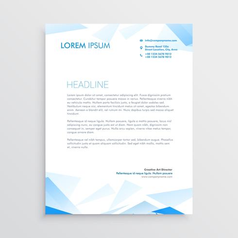 blue abstract business letterhead design