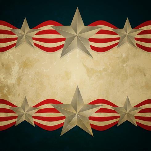 drapeau américain vintage vecteur