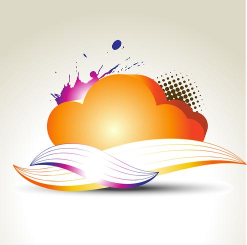 vector colorful cloud