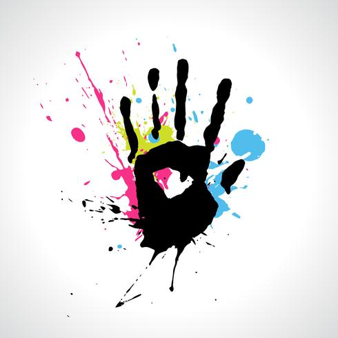 vector abstract hand
