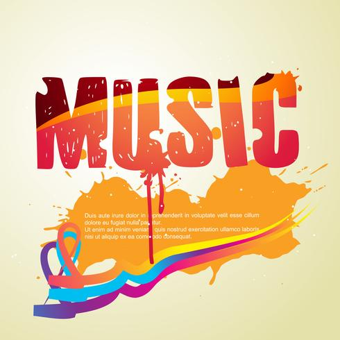 abstract music style vector