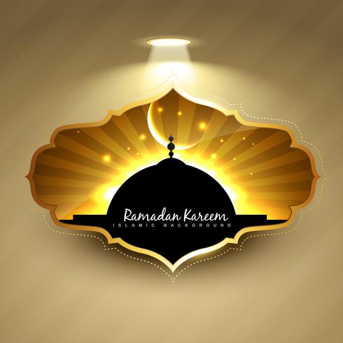 stijlvol ramadan kareem-label