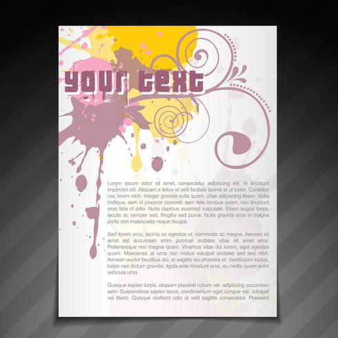olorful brochure flyer template design