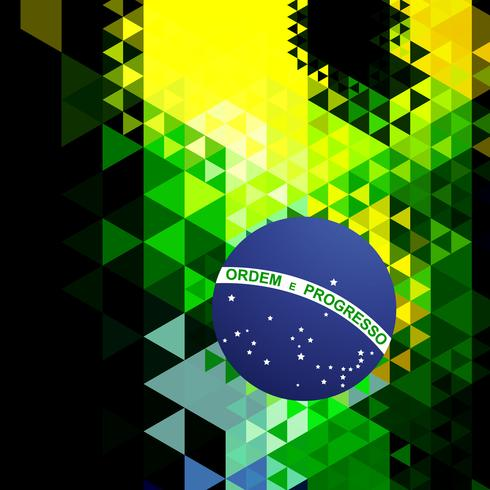 abstract style brazil flag