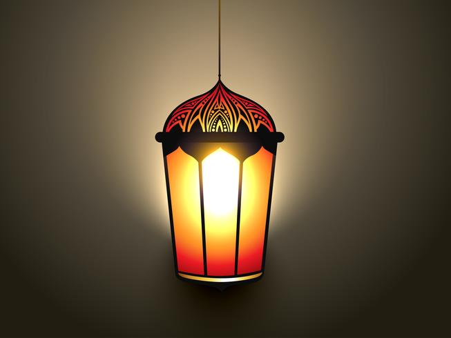 glowing islamic lamp