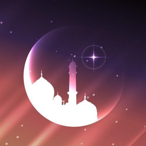 projeto da mesquita muçulmana vetor