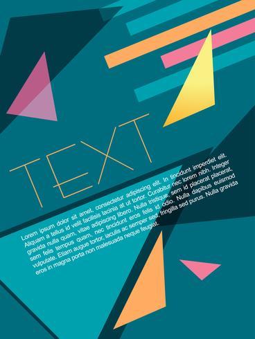 diseño de folleto abstracto vector