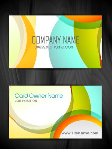 colorful creative business card template