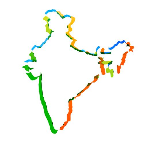 carte indienne de vecteur