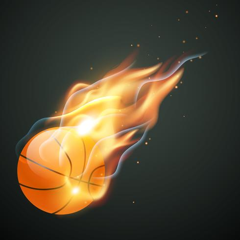 brennende Basketball-Illustration