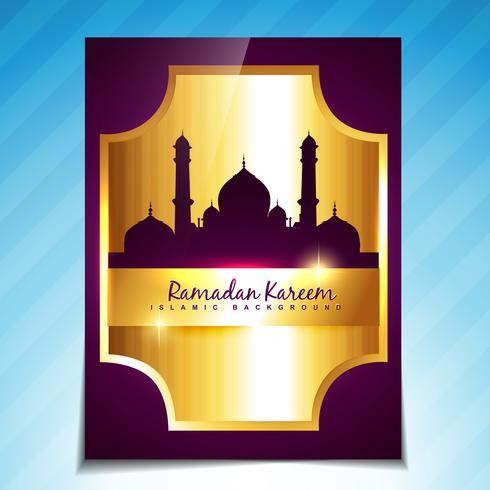 glanzende islamitische festival sjabloon