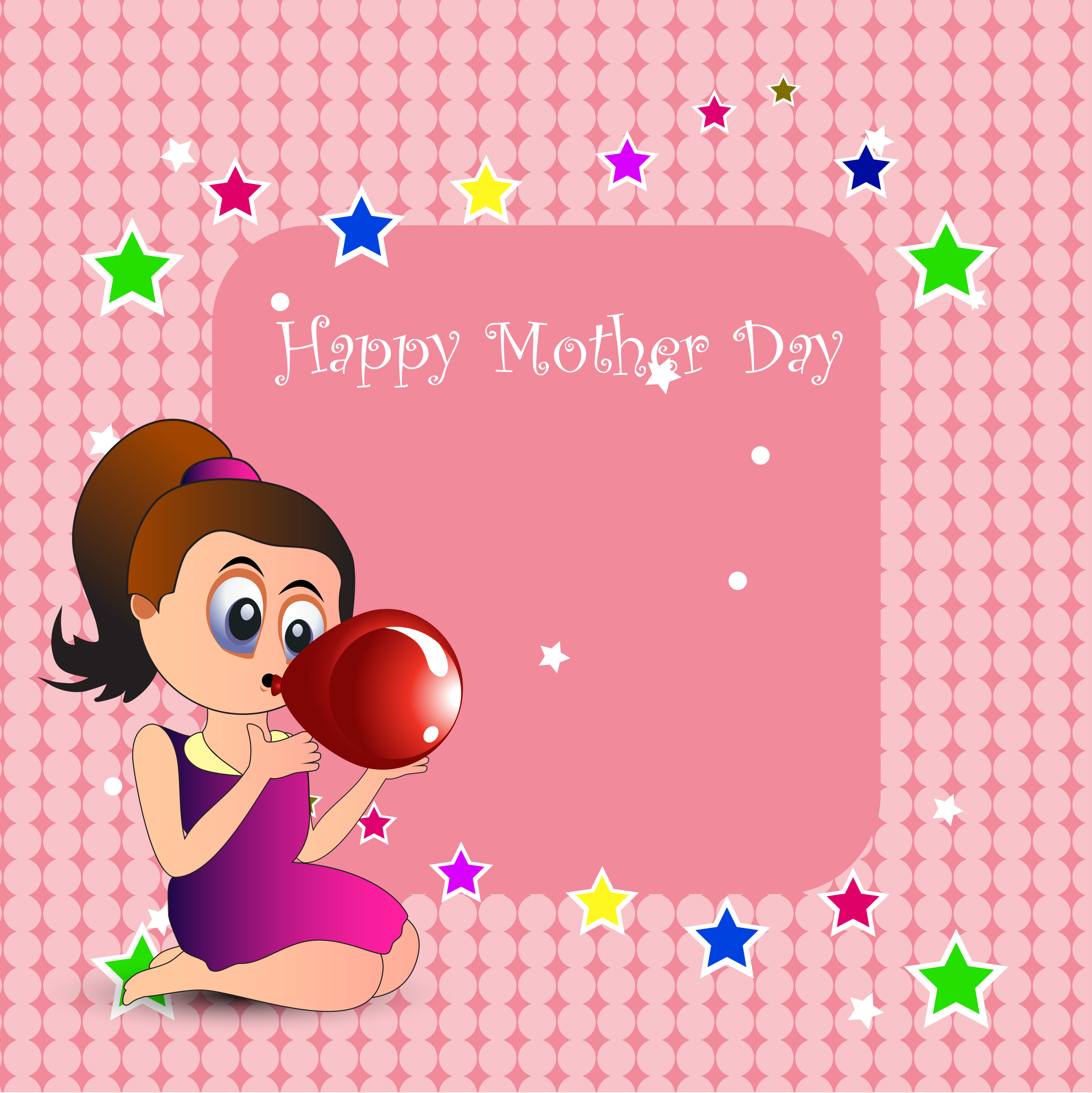 Mothers Day Background Free Vector Art
