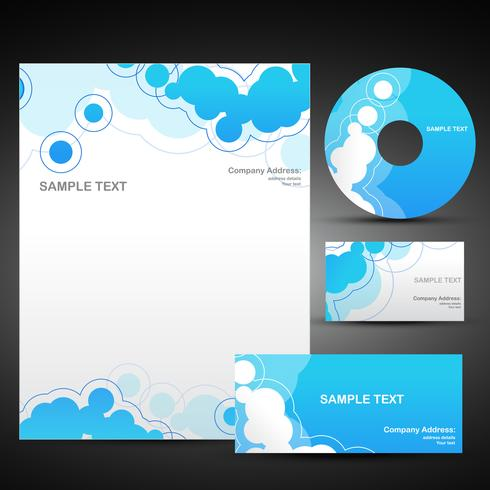 vector set of business template in blue color