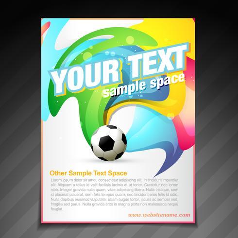 fotboll broschyren flyger affischmalldesign