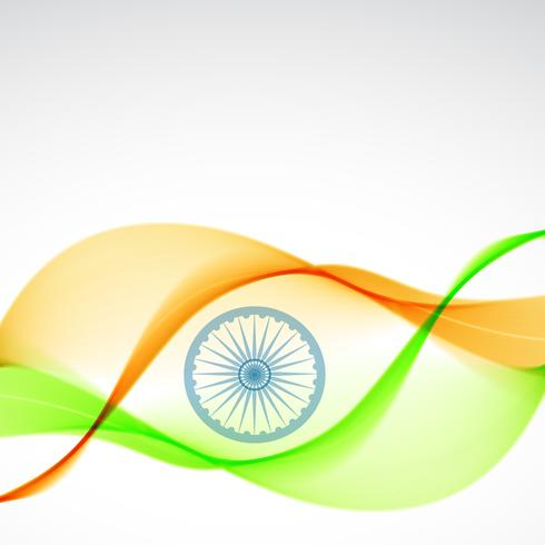elegant indian flag design