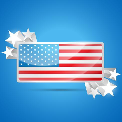 etiqueta de la bandera americana vector