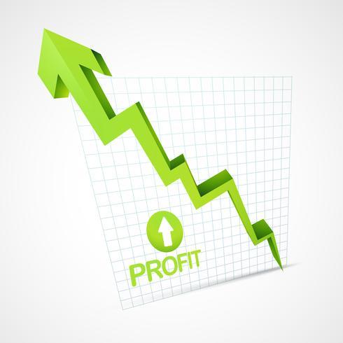 profit arrow growing up