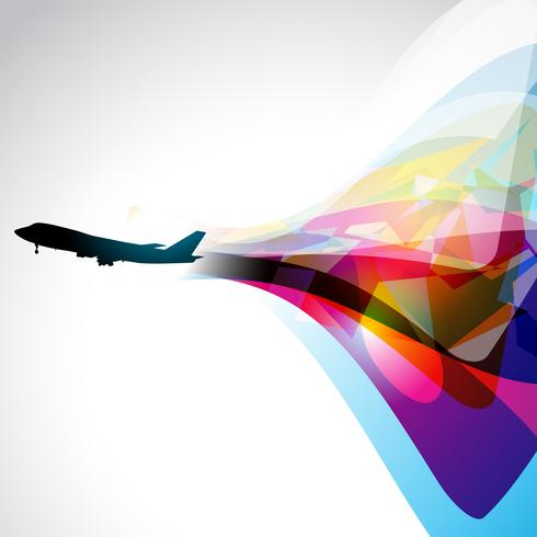 vector airplane artwork