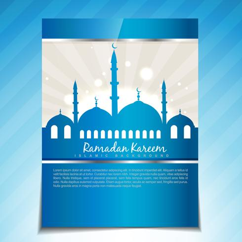plantilla de ramadan con estilo
