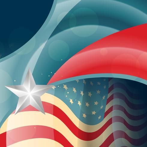 vettore di bandiera americana