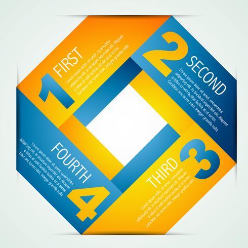 Plantilla de infografía colorido en estilo origami
