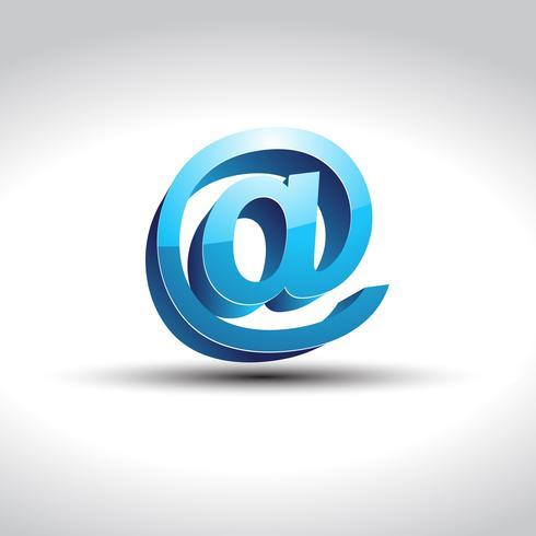 shiny blue email symbol