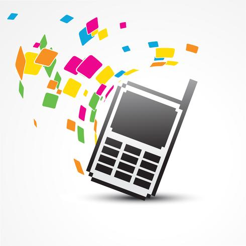 vector pixel phone