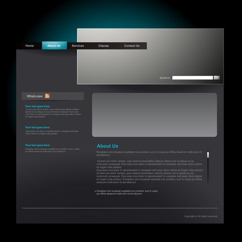 Plantilla de sitio web vector