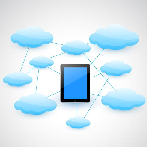 tablet and cloud