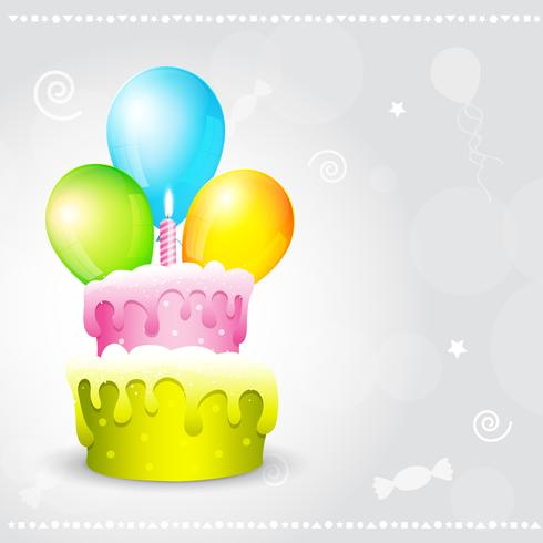 illustration de fond d'anniversaire