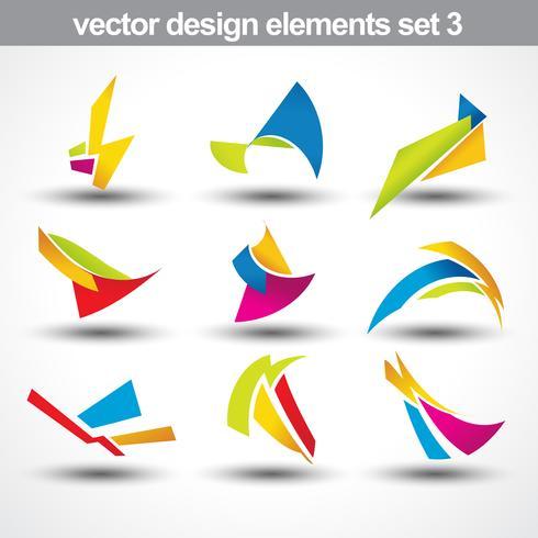 vecteur de forme abstraite