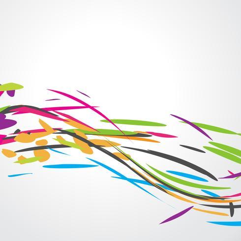 Abstract kleurrijk golfontwerp