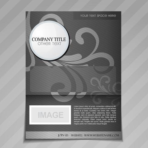 company floral style brochure design