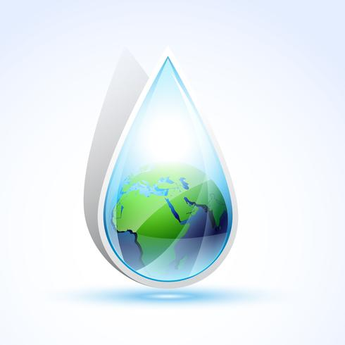 earth water vector illustration