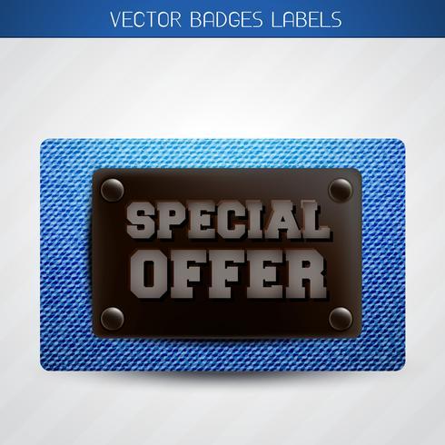 etiqueta de oferta especial de jeans