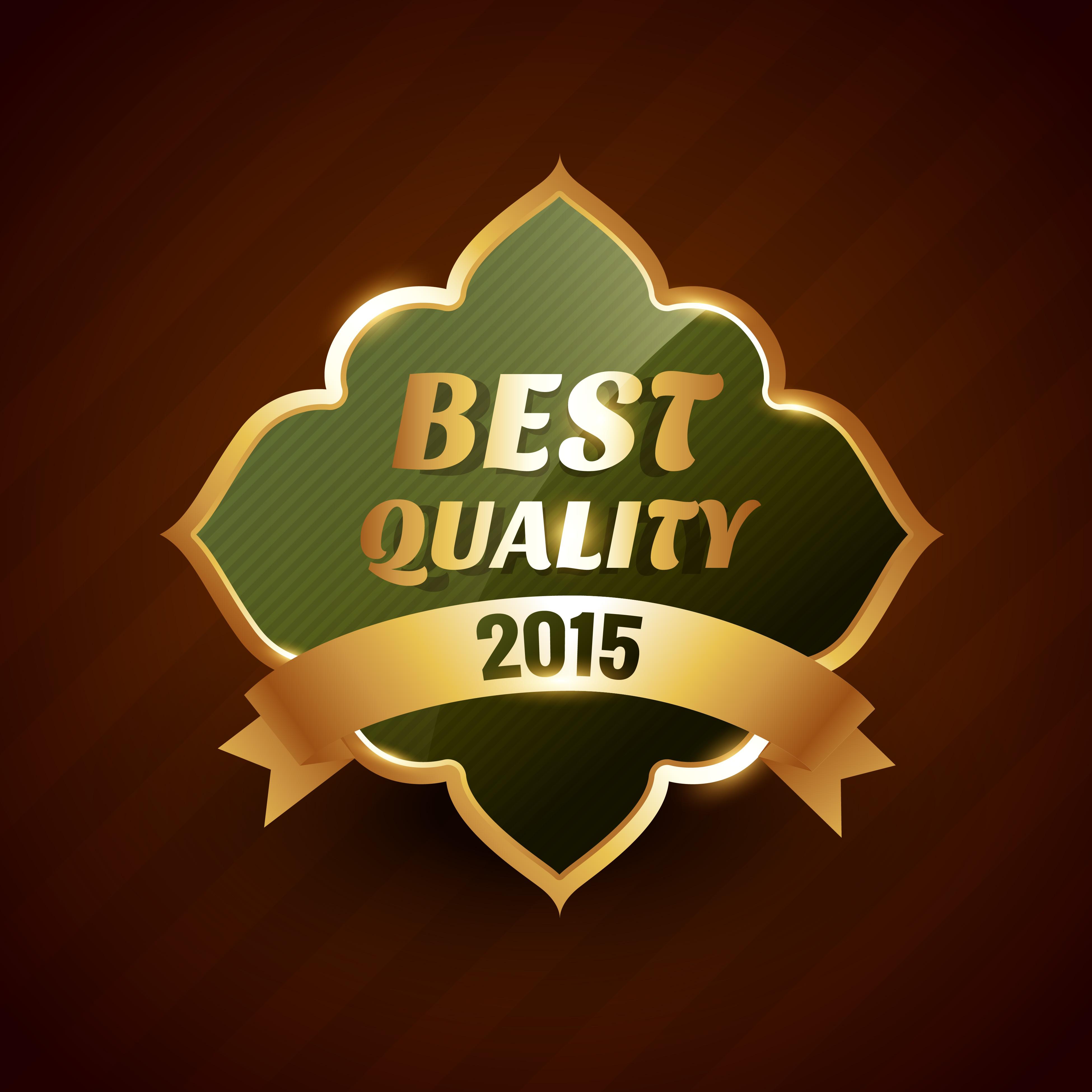Best Quality Of 2015 Golden Label Badge Design Symbol