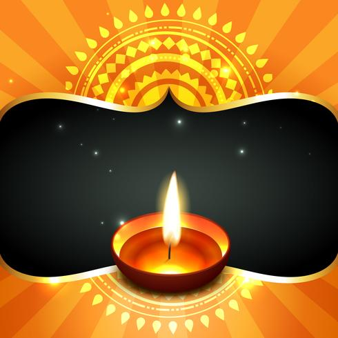 stylish happy diwali  background