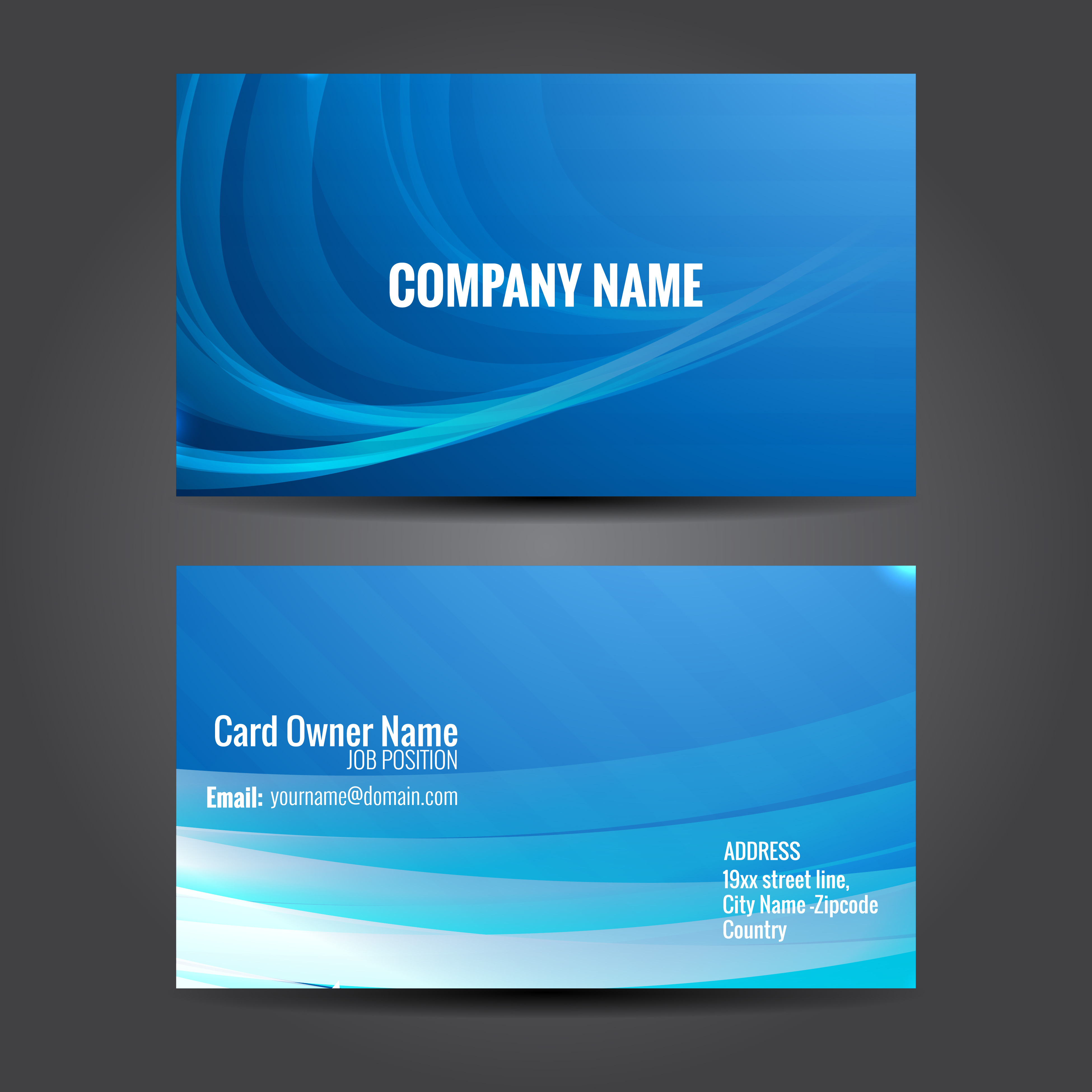 Free vector business card templates 41286 free downloads wajeb Images