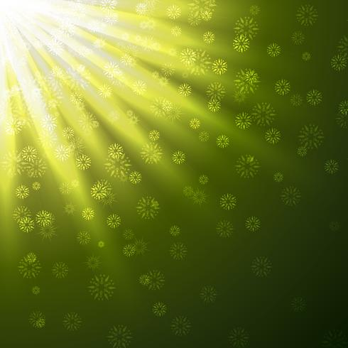 green rays