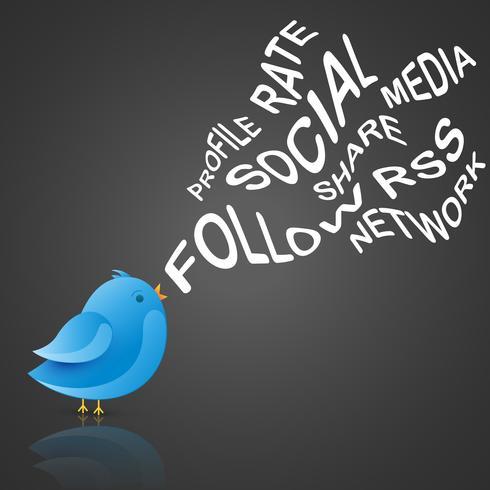 pássaro azul social