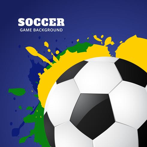 soccer game design vector